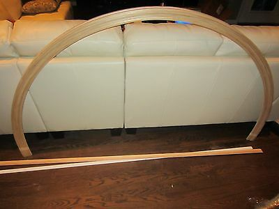 Interior solid pine trim casing molding haif round arch arched window 3' 6' ft