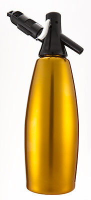Gold SODA SYPHON - GIMAS® - Made in ITALY - 10 FREE Bulbs - TOP QUALITY