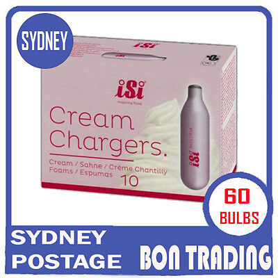 ' 6 Packets ' - iSi Brand SODA Bulbs / Chargers - BEST QUALITY 10 Bulbs per Pack