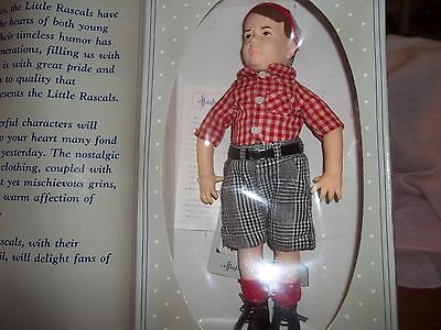 "SPANKY DOLL 11"" NIB; NRFB, FROM THE LITTLE RASCALS 1989 BY EFFANBEE W/COA & TAG"