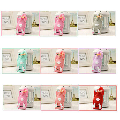 New Cute Rabbit Cartoon Silicone Phone Case Cover For Samsung Galaxy S4 Note