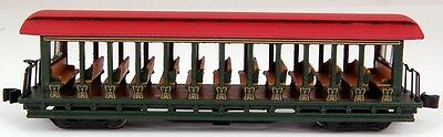 Bachmann N Scale Train Open Sided Excursion Car Green & Red 19396