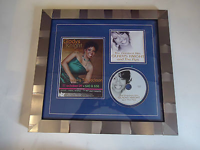 Gladys Knight Genuine Hand Signed/Autographed Tour Flyer with CD/CD Cover & COA