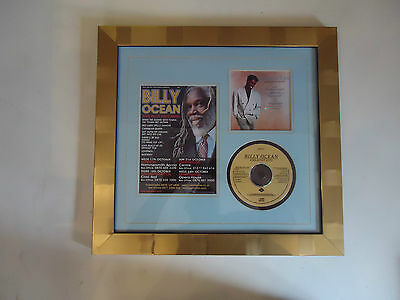 Billy Ocean Genuine Hand Signed/Autographed Tour Flyer with CD/CD Cover & COA