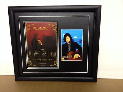 Ed Hardcourt Genuine Hand Signed/Autographed Tour Flyer with Photograph and COA