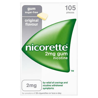 Nicorette Original Flavour 2Mg Sugar-Free Chewing Gum - Pack Of 105