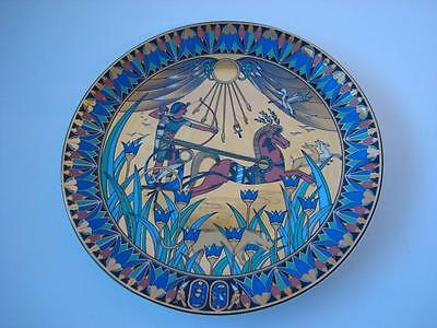 ROYAL WORCESTER LEGENDS OF THE NILE  TUTANKHAMUN AT THE HUNT PLATE