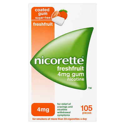 Nicorette Freshfruit 4Mg Suger-Free Chewing Gum - Pack Of 105
