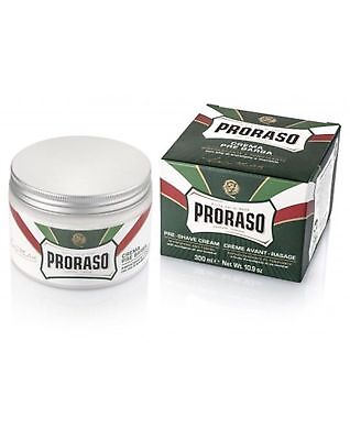 Proraso 300ml XL Menthol and Eucalyptus Pre Shave Cream - barber size green jar