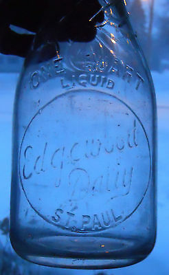 TREQ RARE EDGEWOOD DAIRY STPAUL MINN  1934 MILK BOTTLE ONLY SEEN TWO OF THIS ONE