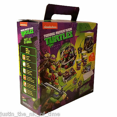 TEENAGE MUTANT NINJA TURTLES Party Set Boys Kids Children Birthday 56 Piece Kit