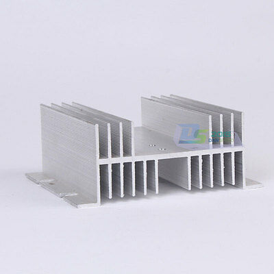 New Heat Sink for Single Phase Solid State Relay Up to 100A Silver High Quality