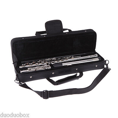 Western Concert Flute Silver Plated 16 Holes C Key Cupronickel