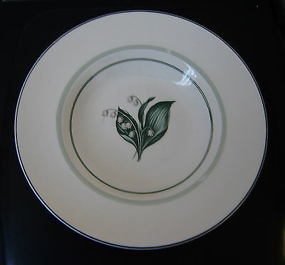 Vintage Booths 9 ins soup dish  Lilies of the Valley Green Bands quality