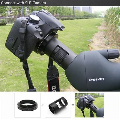 Mount&T-Ring 42mm Spotting Scope Telescope Adapter For SLR/DSLR Nikon Camera