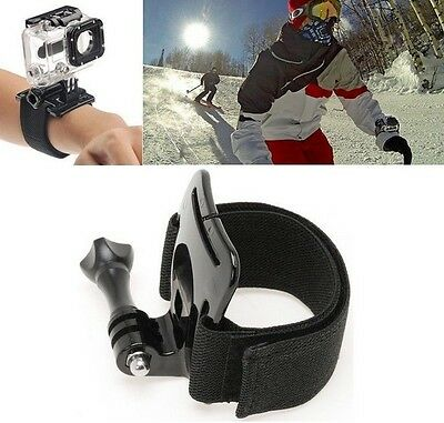 Wrist Arm Strap Mount for GoPro Hero 2, 3, 3+, 4 Accessories Black Band