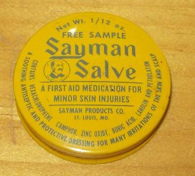 Old Advertising Medicine Tin Sayman Salve Sayman Products St Louis MO First Aid