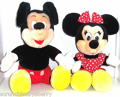 Mickey Minnie Mouse Plush Toy Disneyland Disney World Vintage 1990's