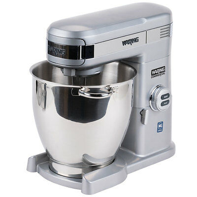 Waring WSM7Q Commercial Professional 7 Quart Stand Mixer 1 Year Warranty