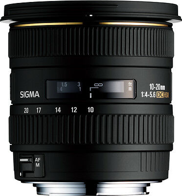 Sigma 10-20mm F4-5.6 EX DC HSM Lens For Canon USA AUTHORIZED DEALER (201101)