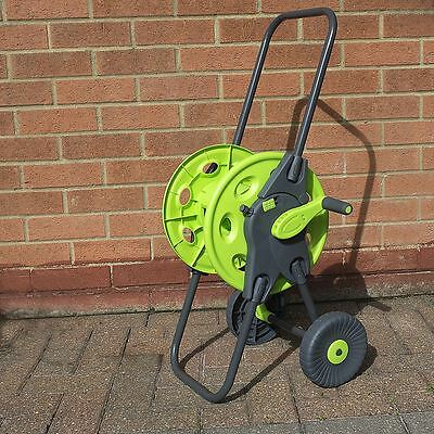 45M Portable Hose Reel Troley Garden Watering Pipe Cart Free Standing Winder