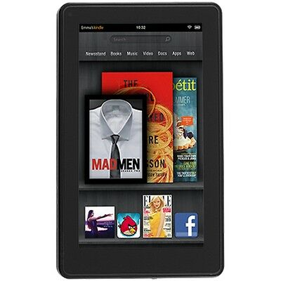 Amazon Kindle Fire eReader 8GB, Wi-Fi, 7in - Black Full Color Multi Touch Book