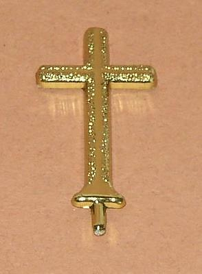 "CREATIVE TIME Create A Project 2.5"" GOLD CROSS Miniature Model Diorama Accent"