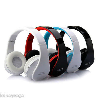 Bluetooth Wireless Estéreo Auricular Headset Headphone For iPhone PC w/ Mic 19Z2