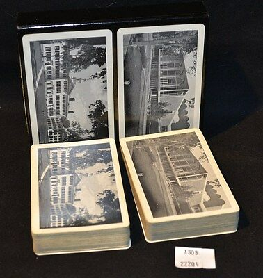 ThriftCHI ~ B&W Historic Buildings Architecture Vintage Playing Cards