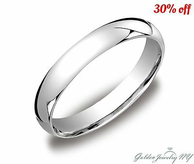 562b9cfa366dec Mens Women Solid 10K White Gold Plain Wedding Band Comfort Fit 2MM-7MM