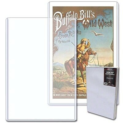 2 BCW 11X17 Art Print Toploaders Top Load Holder Poster Menu Photo Frame 11 X 17