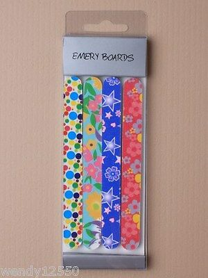 Pack Of 12 Sets Of Patterned Emery Boards, Nail Files, Beauty : Sp-0764 Pk12