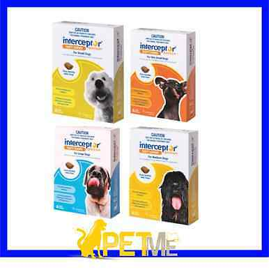 INTERCEPTOR SPECTRUM For Dogs 6 PACK - ALL SIZES AVAILABLE