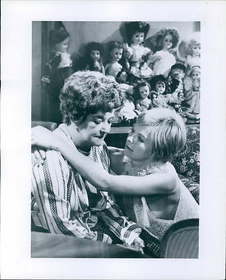 Vintage photo of Susannah York and Beryl Reid at film set of The Killing of sis