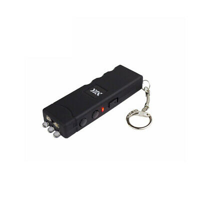 NEW HIGH Voltage Black Rechargeable Mini Stun Gun LED Flashlight Keychain + Case