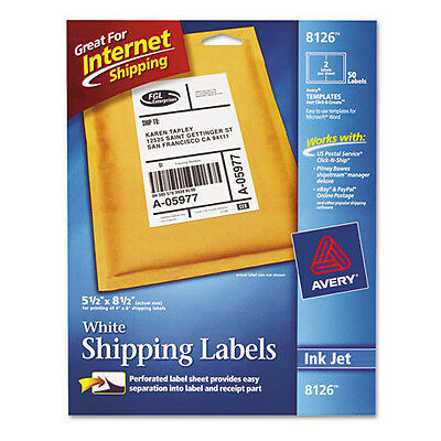 AVERY 8126 SHIPPING LABELS