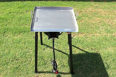 CONCORD 20 x 20 Stainless Steel Flat Top Griddle Grill w/ Single Burner Stove