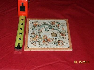 Trivet Wall Plaque Bergguist Imports Brown Woodland Scene 6 Inch Square