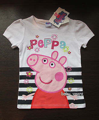 Girls Peppa Pig Short Sleeved T-Shirt Summer Holiday Top Character Clothing New