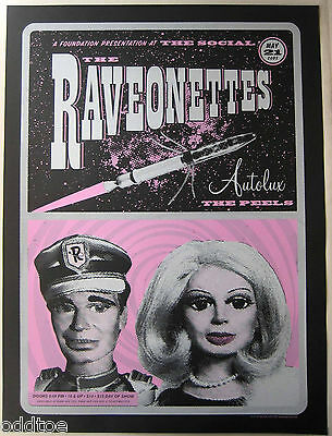 THE RAVEONETTES- ORIGINAL 2005 CONCERT POSTER  s/n by Thomas Scott, puppets