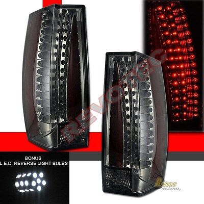 07-14 Suburban Tahoe Yukon G5-Escalade Style LED Tail Lights w LED Reverse Smoke