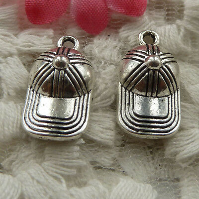 free ship 180 pieces Antique silver cap charms 19x10mm #4274