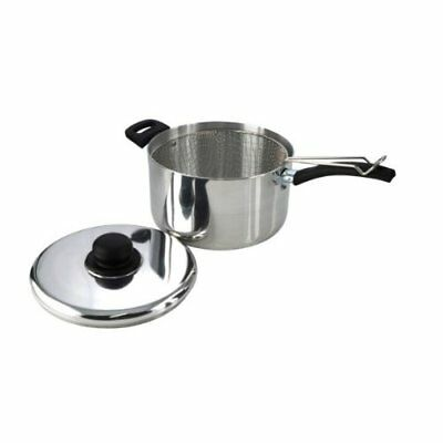 Chip Pan With Lid and Light weight Basket -25cm
