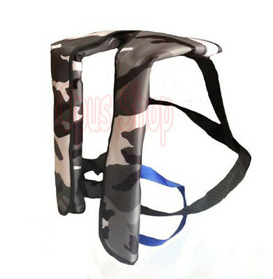 Camouflage Adult Inflatable Life Jacket Inflation 150N PFD Manual/ Automatic