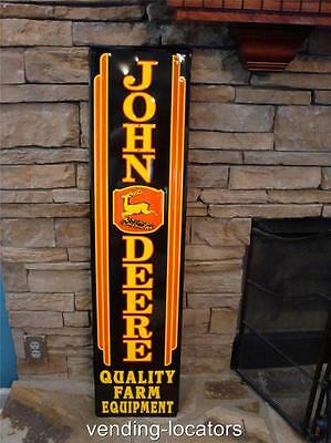 JOHN DEERE TRACTOR SIGN FARM EQUIPMENT LARGE VINTAGE STYLE EMBOSSED 3 LEG MOBIL