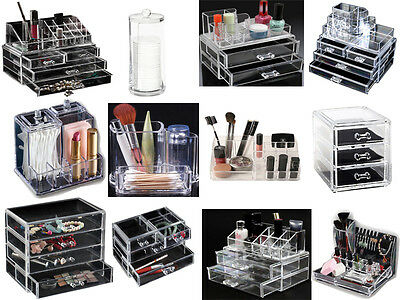 Acrylic Cosmestic Clear Makeup/ Jewellery/ Nail Varnish/ Cotton Pads/Bud Holder