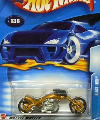 NEW Hot Wheels 2003-136 Blast Lane GOLD Highway 35 1:64 Scale