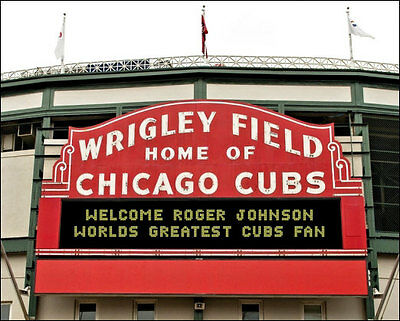 Personalized Wrigley Field Marquee Photo 8X10  Your Name In Lights Chicago Cubs