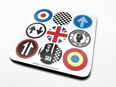 *NEW* OFFICIAL Mod And Ska Icons COASTER / DRINKS MAT BY PYRAMID CS00009