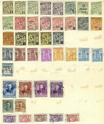 Monaco Stamp Collection On Loose Album Page (Ref: C100)